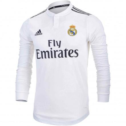 Футболка Adidas Real Madrid Home Jersey Long Sleeved League Shirt 2018/19
